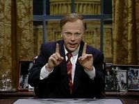"Dana Carvey as George Bush. Defiantly my favorite impersonation of a president EVER. ""It's scary. It's scary!"""