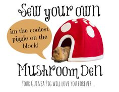 Tutorial: Sew a Mushroom Den for your guinea pig