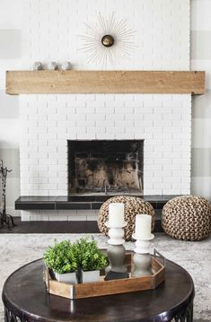 36 best white brick fireplaces images diy ideas for home home rh pinterest com white brick fireplace with shiplap white brick fireplace modern