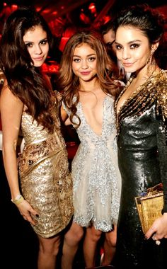 Selena Gomez, Sarah Hyland, Vanessa Hudgens  The Weinstein Company Dinner & After Party, Beverly Hilton Hotel