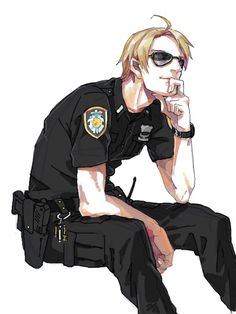 "I love nations dressed as domestic service men (like police or fire) and military. It just seems to make them more nation-like. (""Hetalia America Alfred F. Jones"")"