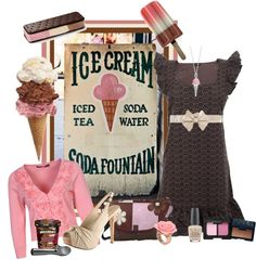 """""""Neopolitan Ice Cream"""" by tracireuer ❤ liked on Polyvore"""