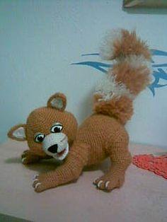 Eichhörnchen zum häkeln