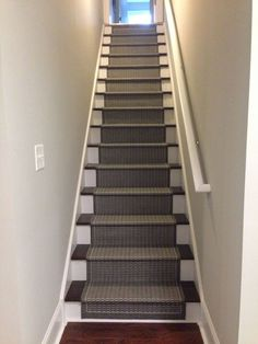 Paint, Stain And Carpet Runner Stair Case Makeover   Basement Stairs, DIY  Tips And Tutorial