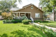 This stunning 4 bedroom, 3 bath home in Historic District of McKinney boasts original pine floors and wood work that is colorful and stunning.
