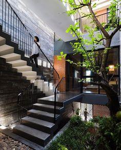 Resort in House by Alpes Green Design & Build (2016), Da Nang #Vietnam ... Area: 240 sqm.  Formica