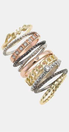 Carole Stackable Rings