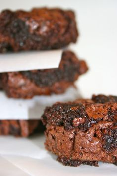 gooey brownies, just the most simple..best...satisfyingly delicious recipe. I use smart balance oil due to a cholesterol issue in our household instead of veg oil but that's my only change
