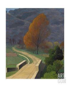 Felix Vallotton -The Bridge over Béal (Le Pont sur le Béal), 1922 Oil on canvas Lausanne, Kunst Online, Online Art, Landscape Art, Landscape Paintings, Imagen Natural, Paul Gauguin, Art Moderne, Matisse
