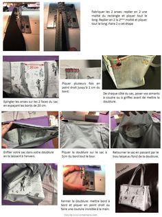 Tuto Sac à main Moi Paris Diamants - Viny DIY, le blog de tutoriels et patrons couture et DIY. Sewing Online, Thing 1, Couture Bags, Sewing Patterns, Handbags, Tote Bag, Shopping, Diy Handbag, Courses