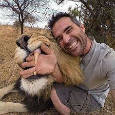 Kevin Richardson!  Follow @wildlifepacific for all the wildlife picture im…