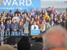 The President was in Milwaukee on 9/22 addressing the crowd at Summerfest. First time seeing the president in person.