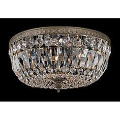 @Overstock - Setting: Indoor  Fixture finish: English Bronze finish  Shades: Hand-Polished crystal http://www.overstock.com/Home-Garden/Crystal-2-light-Flush-with-English-Bronze-Finish/6375555/product.html?CID=214117 $138.99