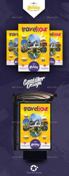 #Travel Tours Poster Templates - #Signage Print Templates