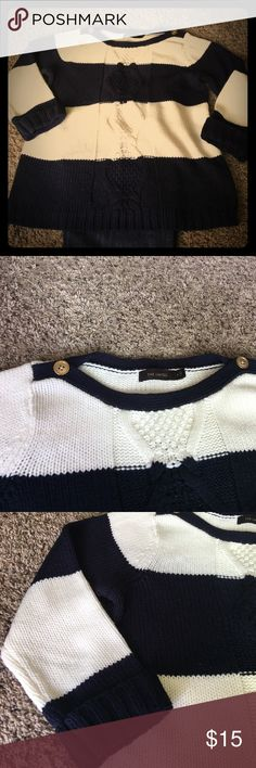 The Limited sweater. 3/4 sleeve. Would be great for spring. Good condition, no sign of wear. Cute gold button on the neckline The Limited Sweaters