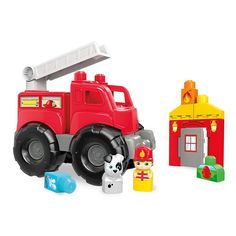 Mega First Builders Fire Truck Rescue | DXH38 | Fisher-Price