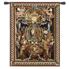 Portiere du Char de Triomphe Small Wool and Cotton Wall Tapestry