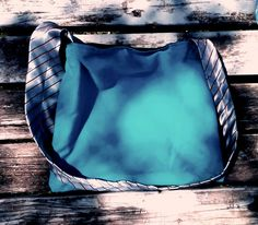 black faux leather tote with silver handle blue when reversed,shoulder bag,shopping tote,small size washable by handbags, art, paintings,side bags, upcycled, fashion, barbie