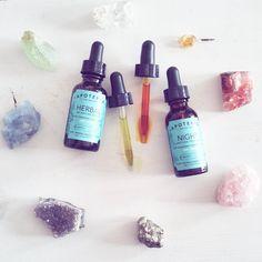 Day + Night set for oily/acne skin. Herbal Balancing Serum + Night Clarifying Treatment