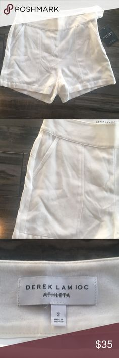 Athleta & Derek Lam Central Park Short sz 2 Size 2 NWT! Super comfy shorts.  Description details are provided in picture above.  No stains NWT.  Inside area of athletica is crossed out to prevent resell.  Comes from a smoke free/pet free home. Bundle and save Derek Lam Shorts
