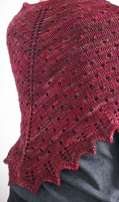 A top-down, triangular shawl with eyelets and a simple lace border. This was designed when I was housebound with a deep tissue infection in my leg that would have made any Fourteenth Century peasant proud, hence the somewhat macabre name. It's a soothing and addictive knit for anyone in need of a little yarn therapy, and once finished will provide cosy protection against any chill.