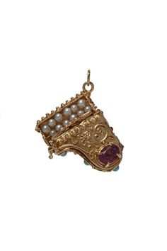 Vintage 14k Gold Piano Charm..