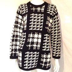 "Adrienne Vittadini Sport Sweater Adrienne Vittadini Sport Black and White Sweater. Size Small, 55% Ramie, 45% Cotton,. Hand Wash in Cold. Measurements: Armpit to Armpit 20"", Length 29.5. sleeves 20"". Adrienne Vittadini Sweaters Crew & Scoop Necks"