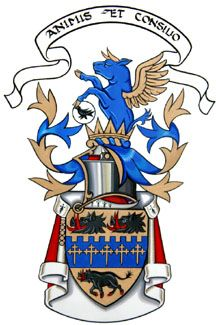 CoA of  John Sullivan, Earl of Breadalbane.  I thought the winged bull made for an interesting crest.