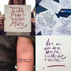 Fábio Maca - 10 designers brasileiros que criam incríveis letterings feitos à mão;