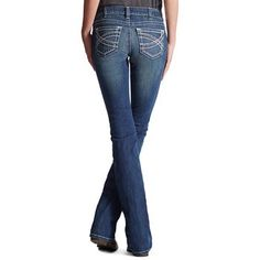 Ariat Women's Mid Rise Boot Cut Real Riding Jeans