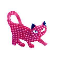 Taming Tamara Polka Dot Cat Brooch by Erstwilder