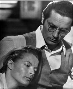 Romy Schneider and Alain Delon on the set of The Assassination of Trotsky directed by Joseph Losey, 1971
