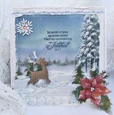 Love these papers from Pion Design-Wintertime in Swedish Lapland♥