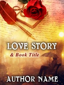 Love Story Romance & Letters in the Rain | Customizable Book Cover by RLSather | SelfPubBookCovers: One-of-a-kind premade book covers where Authors can instantly customize and download their covers, and where Artists can post a cover and name their own price.