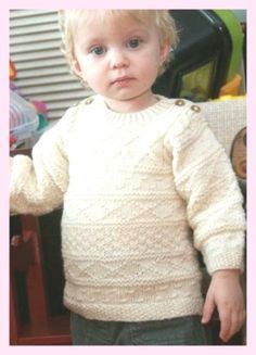Baby Knitting Patterns Free Knitting Pattern for Baby Gansey Sweater - This Easy Ba. Baby Knitting Patterns Free Knitting Pattern for Baby Gansey Sweater - This Easy Ba. Kids Knitting Patterns, Baby Sweater Patterns, Knitting Designs, Baby Patterns, Stitch Patterns, Knitting Ideas, Toddler Sweater, Knit Baby Sweaters, Knitted Baby Clothes