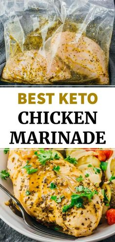 This is a fabulous all-purpose chicken marinade recipe, whether you're looking to bake, grill, or BBQ. It works for both breasts and thighs, and has delicious Greek inspired flavors. It's very easy to make, and is suitable for a range of healthy diets including low carb, keto, and paleo. Chicken Marinade Recipes, Chicken Marinades, Healthy Chicken Recipes, Keto Chicken, Bhg Recipes, Cooking Recipes, Meal Recipes, Quick Weeknight Meals, Easy Meals