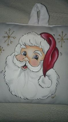 69 Ideas for painting christmas navidad Santa Paintings, Christmas Paintings On Canvas, Christmas Canvas, Christmas Yard Decorations, Painted Christmas Ornaments, Christmas Rock, Christmas Images, Tole Painting, Fabric Painting