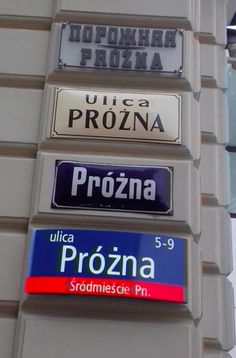 Warsaw, the street plates from 1900 to 2000 (Próżna Street) Visit Poland, Pretty Photos, Central Europe, Street Signs, My Heritage, Best Cities, Warsaw, Old Town, Over The Years