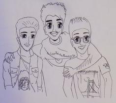 I drew il volo! (^-^) Gianluca Ginoble, Ignazio Boschetto, and Piero Barone. :)