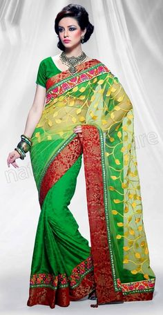 Green color #saree