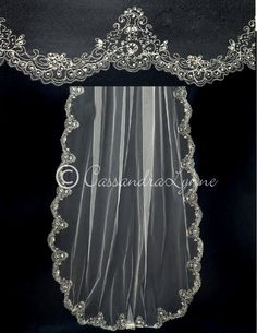 Cathedral Veil with Embroidery and Pearls