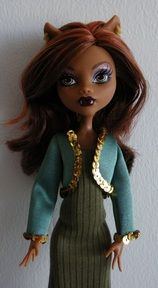Monster High doll Bolero jacket and tube dress pattern ~ free