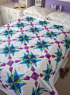 Anna's Starflake Quilt Love of Quilting  July/Aug 2016