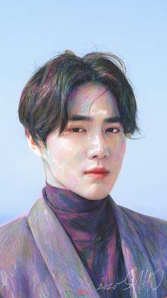 Kai, Exo Fan Art, Fandom, Kim Junmyeon, Suho Exo, Cosmopolitan Magazine, Instyle Magazine, Portrait, Yoona