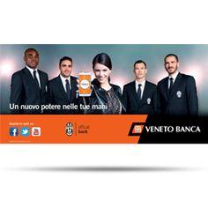 Campagna Stampa Adv Veneto Banca Juventus Per il lancio di BankUp Mobile, l'agenzia ha studiato una campagna Adv e Tv a supporto. Testimonial d'eccezione i quattro giocatori della Juventus Leonardo Bonucci, Stephan Lichtsteiner, Alessandro Matri e Angelo Ogbonna.