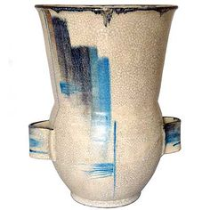 Pottery vase attributed to Margarethe Heymann Marks for Haelstatte Werkstatten (gm046) - Morgan Strickland Decorative Arts