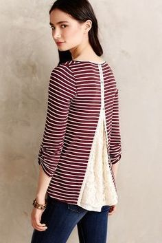 Meadow Rue Cassia Scoopneck #anthrofave #anthropologie--A way to use that sweater that is too tight!