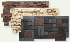Faux panels for homes - interior and exterior. Recommended on yard crashers.