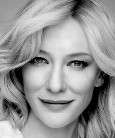 Cate Blanchett She really is this generation's Katharine Hepburn. Beautiful porcelain skin and features!
