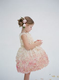 La robe de fille de fleur de Pamela 600.92€ - Etsy